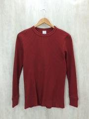 サーマル/カットソー/M/コットン/RED