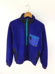 フリースジャケット/ハーフジップ/88年製/三角タグ/M/ポリエステル/BLU/25351 S8