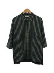 半袖シャツ/2/コットン/オープンカラーシャツ/ストライプ/WK18S-SH04M