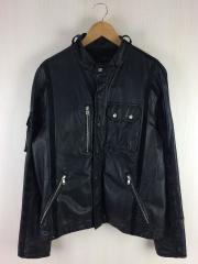 レザージャケット・ブルゾン/XL/豚革/BLK