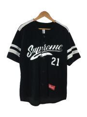 20AW/Velour Baseball Jersey/ベースボールシャツ/M/ベロア/ブラック/黒
