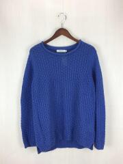 セーター(薄手)/1/リネン/BLU/無地/NN-K2302