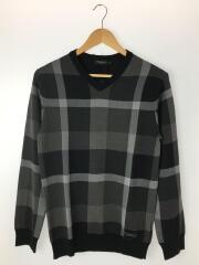 セーター(薄手)/M/コットン/チェック
