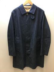 MENS SEEBY ウールライナー付 デニムステンカラーコート 40/コットン/IDG