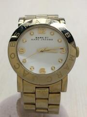 クォーツ腕時計/アナログ/ステンレス/WHT/GLD/MBM3056