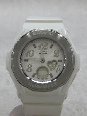 クォーツ腕時計/アナログ/SLV/WHT