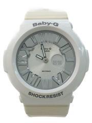 クォーツ腕時計/デジアナ/--/WHT/WHT