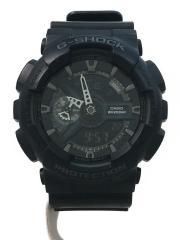 クォーツ腕時計/デジアナ/--/BLK/BLK