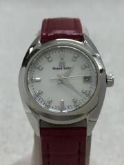 クォーツ腕時計/アナログ/レザー/SLV/BRD/STGF287