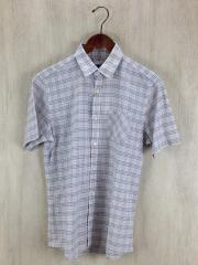 半袖シャツ/2/コットン/WHT/チェック