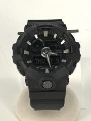 クォーツ腕時計・G-SHOCK/デジアナ/ラバー/ブラック/GA-700-1BJF