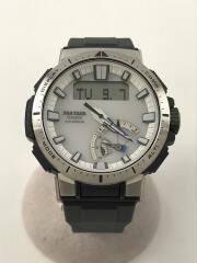 ソーラー腕時計_PRO TREK/PRW-70-7JF/デジアナ/WHT/GRY