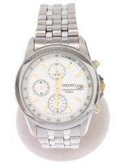 7T92-0LH0/クォーツ腕時計/アナログ/ステンレス/WHT