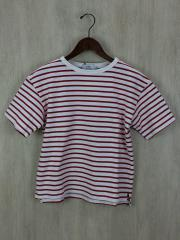 Tシャツ/2/コットン/RED/ボーダー