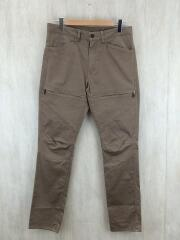 STRETCH 6POCKET RIDING PANTS/L/コットン/BRW/無地