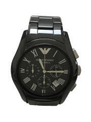 クォーツ腕時計/アナログ/ステンレス/BLK/BLK/AR-1400