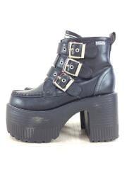 ブーツ/LL/BLK/厚底/ベルト/サイドファスナー/YOSUKE/シューズ/靴/ブラック