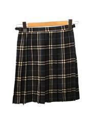 スカート/38/ウール/GRY/チェック/FXF43-851