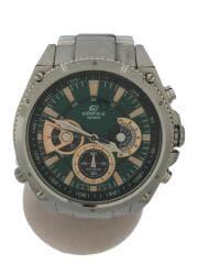 クォーツ腕時計/アナログ/ステンレス/GRN/SLV