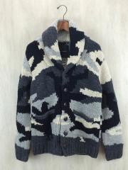 セーター(厚手)/5/ウール/BLK/カモフラ