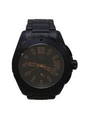 クォーツ腕時計/アナログ/ステンレス/BLK/BLK/X76009G2S