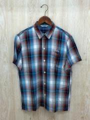 半袖シャツ/L/ナイロン/マルチカラー/チェック/キャリー/オープンカラーシャツ