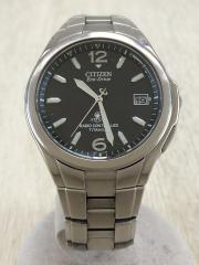 ATTESA/Eco-Drive/腕時計/アナログ/小傷有り