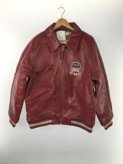 レザーブルゾン/2XL/羊革/RED/SIGNATURE VARSITY JACKET/SIZE:2XL