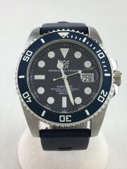 HYAKUICHI/クォーツ腕時計/ネイビー/HYAKUICHI-02/SUBMARINE/20気圧防水