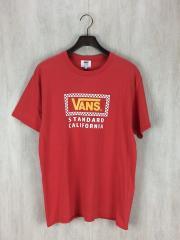 スタンダードカリフォルニア/Tシャツ/XL/コットン/レッド/VANS-17SS-SST/×VANS