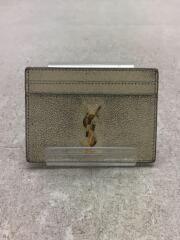カードケース/レザー/GLD/シャンパンゴールド/aq3456/サンローラン