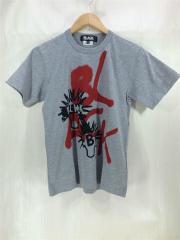 Tシャツ/S/コットン/GRY