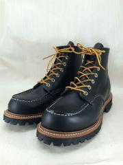 RED WING レッドウィング/レースアップブーツ/US8/BLK