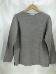 セーター(薄手)/L/ウール/BEG