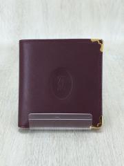 2つ折り財布/レザー/BRD