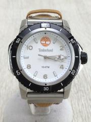 クォーツ腕時計/アナログ/WHT/CML