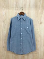 長袖シャツ/--/コットン/BLU/70s/シャンブレーシャツ/汚れ有り