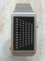 クォーツ腕時計/デジタル/BLK/SLV
