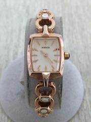 クォーツ腕時計/アナログ/--/WHT
