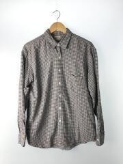 NEL CHECK REVERSE SEAM SHIRT-B/ネルシャツ/BOLD FIT/コットン/GRY