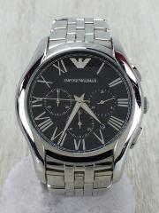 クォーツ腕時計/アナログ/BLK/SLV/AR-1786