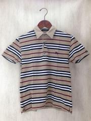 鹿の子半袖ポロシャツ/1/コットン/CML/ボーダー/BMV03-429-44/2012
