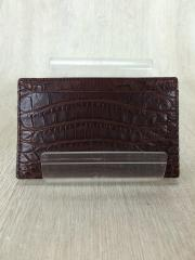 カードケース/レザー/BRW/アニマル