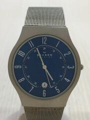 腕時計/アナログ/ステンレス/NVY/SLV