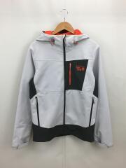 ドラゴンフーデッドジャケット/S/ポリエステル/GRY/OM7148