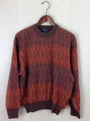 セーター(厚手)/--/ウール/BRW/総柄