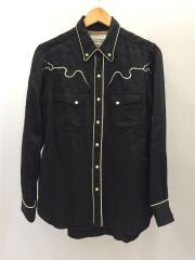 Western Shirt/長袖シャツ/S/REXEL/ブラック