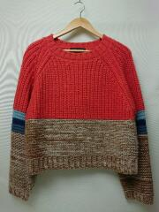 19AW/Block Knit Top/アクリル/ORN/AS19AW-CLT033OG-F