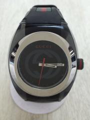 腕時計/アナログ/PVC/BLK/BLK