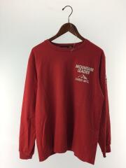 長袖Tシャツ/L/コットン/RED